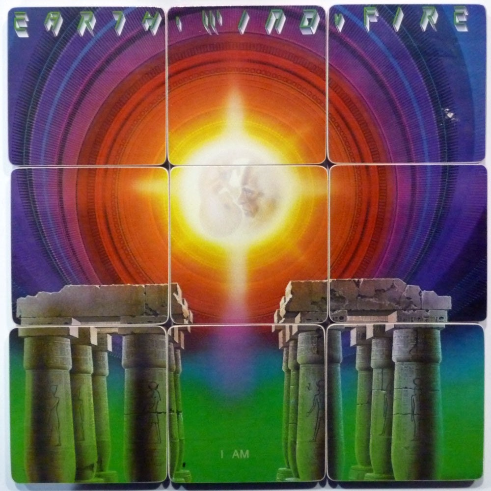 Earth Wind And Fire Album Cover Coasters And Warped Lp Basket