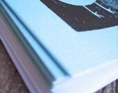 little bird notecard, light blue - set of 5