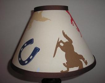 Lamp shade Western Cowboy