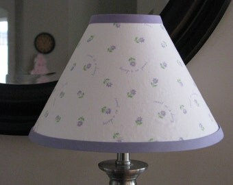 Sweet as a Daisy lavender lamp shade