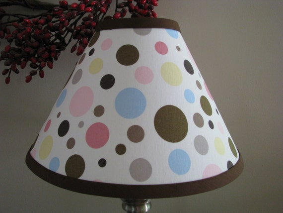lamp shade Polka dot lamp shade twins nursery