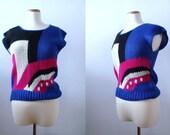 Geometric Knit Sweater Top