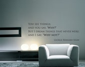 Shaw poem quote Home Decor Wall Decal