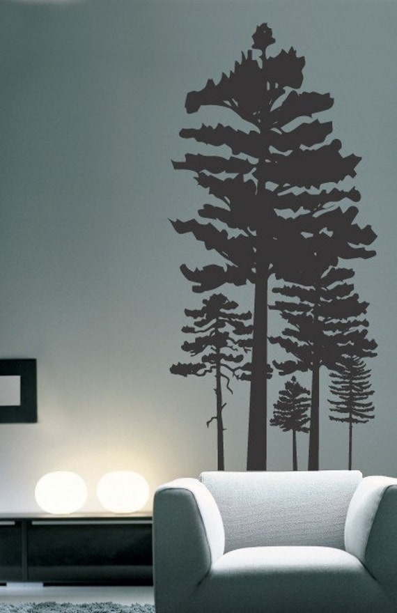 Pine Tree Forest Vinyl Wall Decal For Artists Of Etsy Exposed