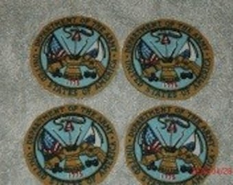 Army iron on appliques
