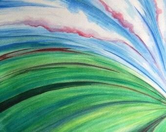 Takeoff - Original Watercolor Painting