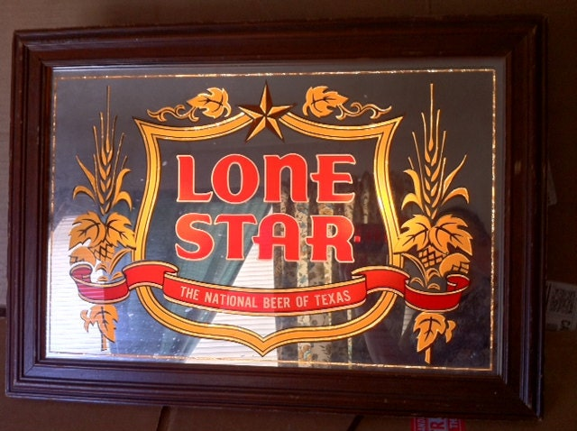 SALE....RARE 1970's Lone Star Beer Lighted Sign Cream Heels With Bow