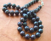 Black  Freshwater Pearls hand knotted  Necklace