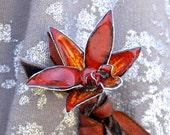 Mini Crimson Cattleya Orchid Hybrid - Enameled Pin