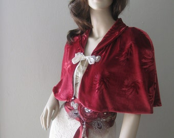 Romantic Red Velvet Caplet