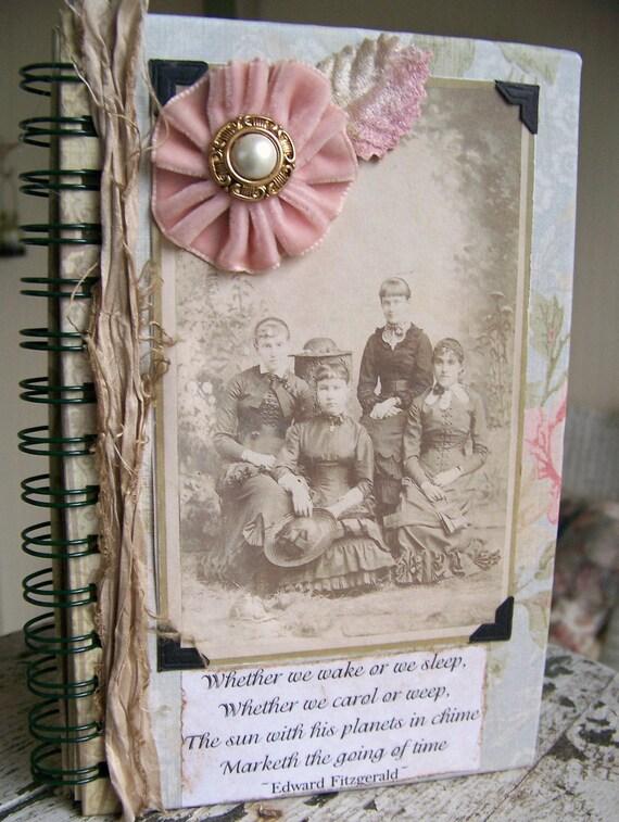 Altered Collage Blank Journal Vintage Collage Vintage Diary Vintage Journal