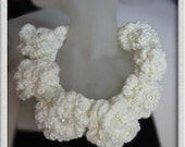 Free form crochet statement necklace