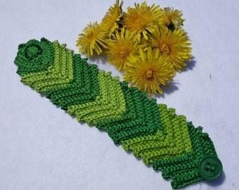 PDF Pattern Ridged crochet bracelet PDF pattern No 8