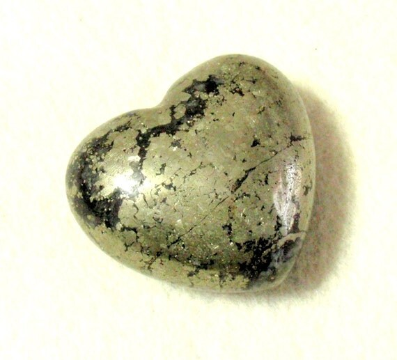 Giant Puffy Iron Pyrite Fools Gold Heart Awesome