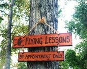 Halloween Sign Decoration Flying Lessons By Appointment Only Witch on Broom Broomstick