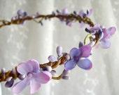 flower girl headband wreath - LILAC SPRIG - purple circlet