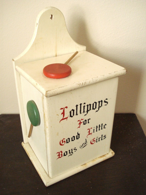 Lollipops For Good Boys And Girls Vintage Wood Box