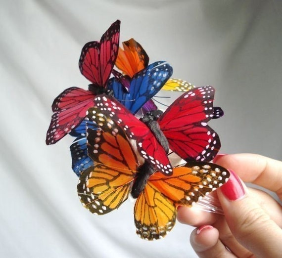 butterfly hair comb - FLUTTER - a whimsical bridal accessory