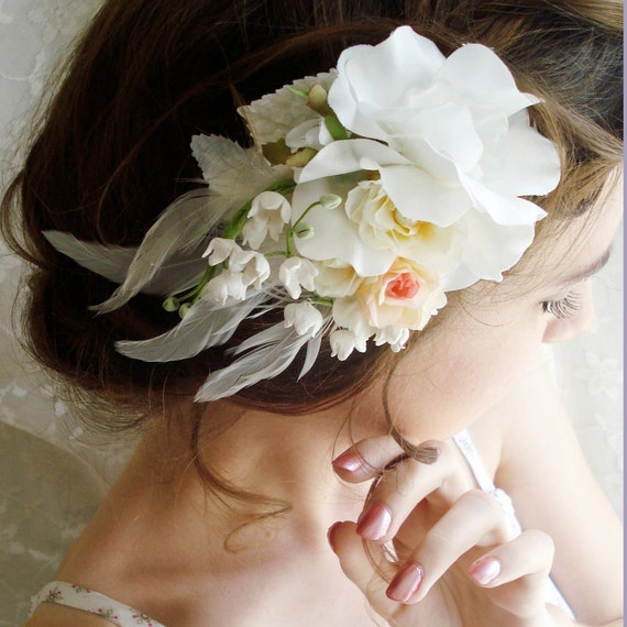 RESERVED for dapixie - flight of the doves - a fascinator