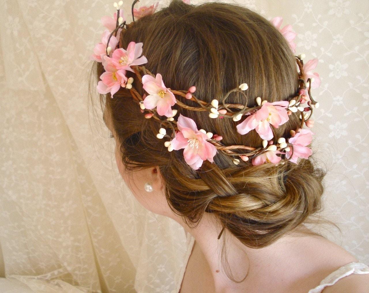 Cherry Blossom Flower Head Wreath SAKURA DREAMS A Pink