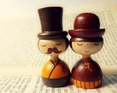 Mini Photo - Art dolls, hand painted Mr. and Mrs. Lopez 2