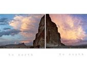 Western Landscape Art, Sky Art, Modoc, Diptych Prints, Landscape Photography, Western Art, Sunsets, Lava Beds, Desert Sky, Sunset Sky Art