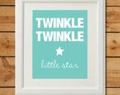 Twinkle Twinkle - Digital Art Print - Nursery Art