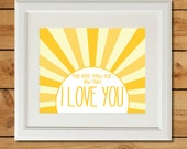 You Are My Sunshine - Printable Art - Nursery Art