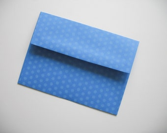 Set of 25 A7 Blue Polka Dot Envelopes - Perfect for 5x7 Photos or Cards