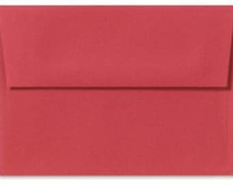 Red Envelopes 5x7 - Set of 25 Cherry A7 Envelopes - Perfect for 5x7 Invitations, Announcements, Valentines, Christmas Cards - cardinal red