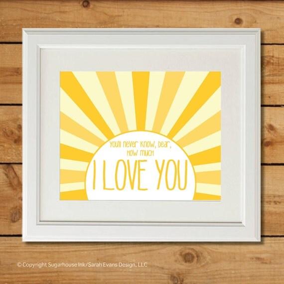You Are My Sunshine - Printable Art - Nursery Art
