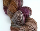 "Dress Up in ""Amaranthine,"" Hand Dyed DK Weight Superwash Baby Alapca Merino Silk SIngle, 1-ply"
