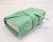 Light Green Leather Notebook
