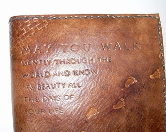 Journal Cover--Genuine Leather Hand Tooled