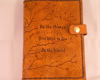 Gandhi Inspired Genuine Leather Journal Cover