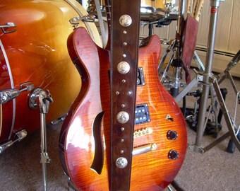 "Genuine Leather Handmade Guitar Strap ""Cordova"""