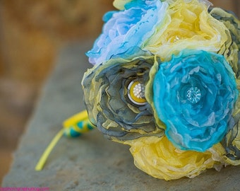 Build Your Own Organza Button Bouquet Set
