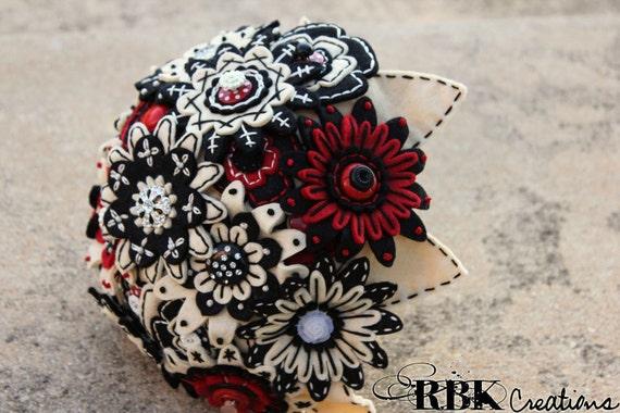 Custom Felt Embroidered Bridal Bouquet