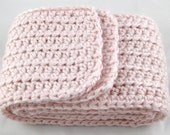 Cotton Candy II Pink Alpaca Blend Crochet Scarf ... awesome for men or women
