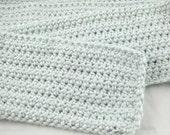 Sky Blue Alpaca Blend Crochet Scarf ... awesome for men or women