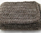 Coffee Bean Brown Alpaca Blend Crochet Scarf ... awesome for men or women