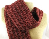 Sun Dried Tomato Alpaca Blend Crochet Scarf ... awesome for men or women