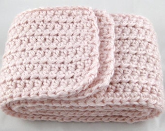 Cotton Candy Pink Alpaca Blend Crochet Scarf ... awesome for men or women