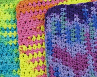 Candy Store Colorful 100 percent Cotton Scrubbies Set of Three Version 2