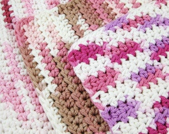 In The Pink 100 percent cotton Scrubbies Set of Three