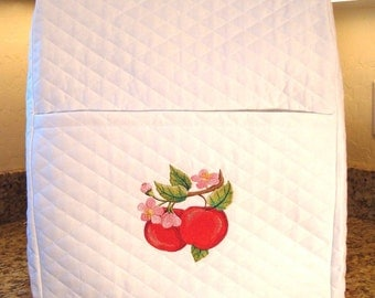 Mixer Cover /White with Apples
