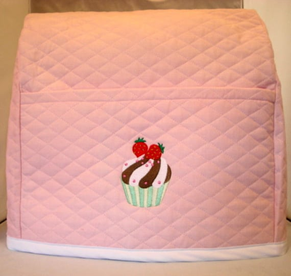 Light Pink Mixer Cover  With Cupcake