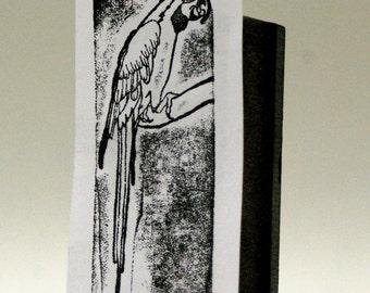 Vintage Macaw Parrot Letterpress Block- Sale