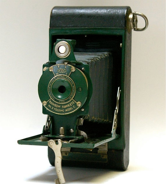 Antique Kodak No. 2 Folding Rainbow Hawkeye Model C folding camera  1930-1933 RESERVED FOR timothynguyen