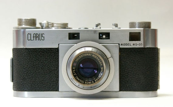 Vintage Clarus Model MS-35 Camera with Leather Case 1946-1952 SALE